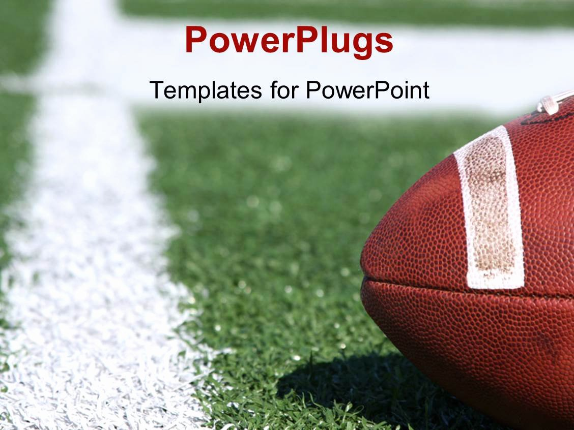 Free Football Powerpoint Template Awesome Powerpoint Template American Collegiate Football On A