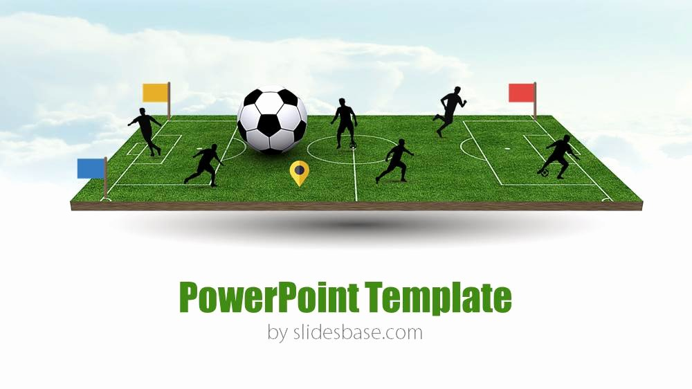 Free Football Powerpoint Template Beautiful 3d soccer Pitch Powerpoint Template