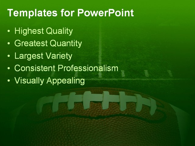 Free Football Powerpoint Template Beautiful Photo Of An American Football with the Focus On the