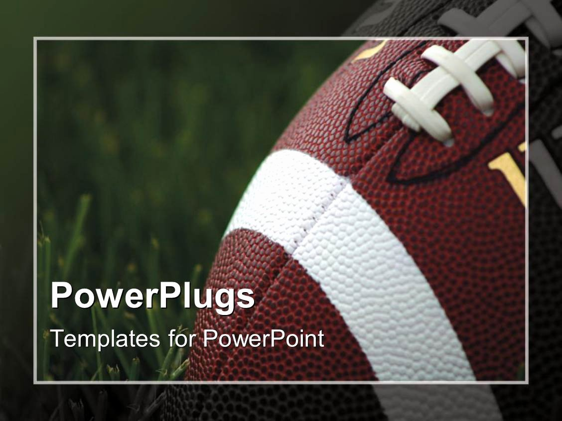 Free Football Powerpoint Template Beautiful Powerpoint Template Close Up Of American Football On