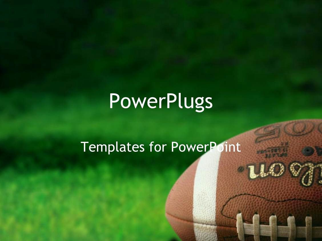 Free Football Powerpoint Template Elegant Powerpoint Template Football On Grass athletes Playing