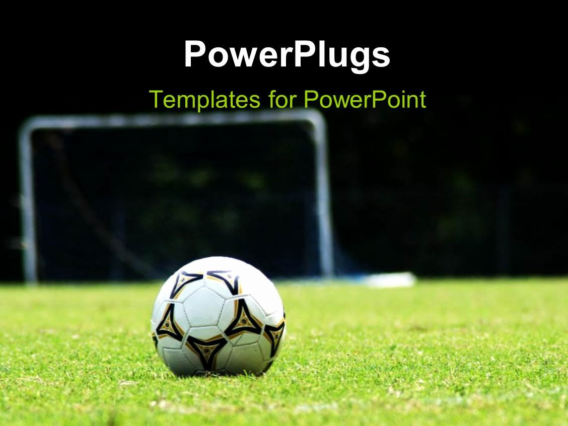 Free Football Powerpoint Template Inspirational Powerpoint Template White soccer Ball On Green Grass