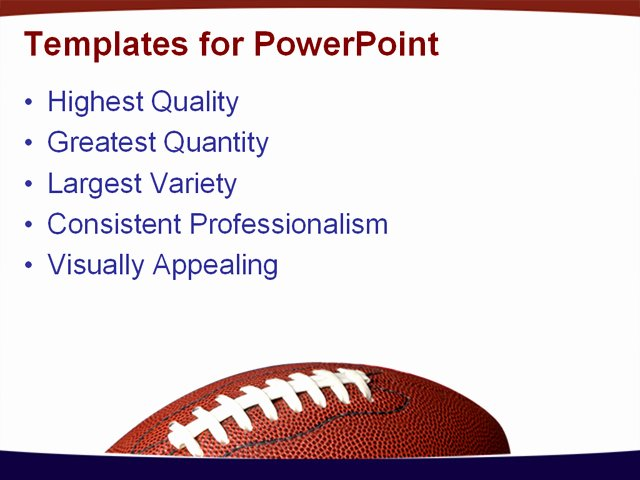 Free Football Powerpoint Template Luxury Football with the American Flag In He Background