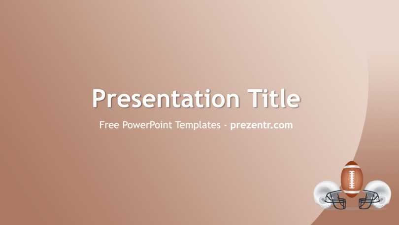 Free Football Powerpoint Template Luxury Free American Football Powerpoint Template Prezentr