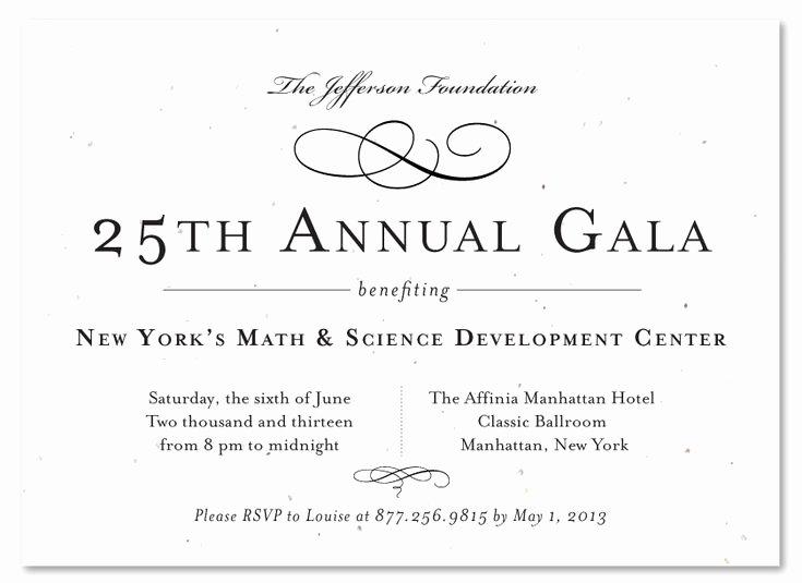 Free formal Invitation Template Fresh formal Gala Invitations Very Vip Plantable
