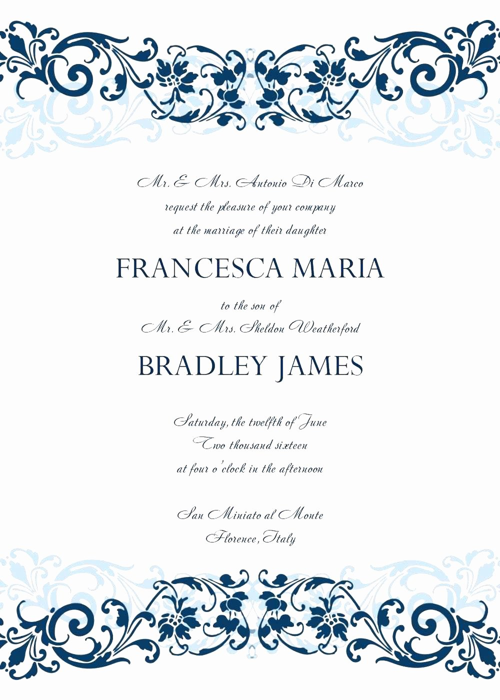 Free formal Invitation Template Lovely Free formal Invitation Templates