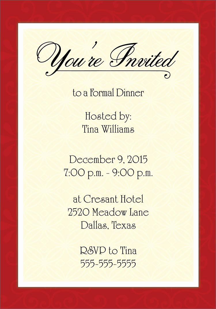 Free formal Invitation Template Lovely Invitation Cards