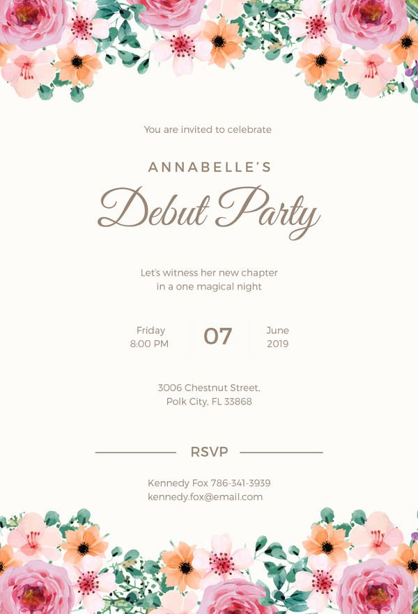 Free formal Invitation Template Luxury formal Invitation Template 31 Free Sample Example