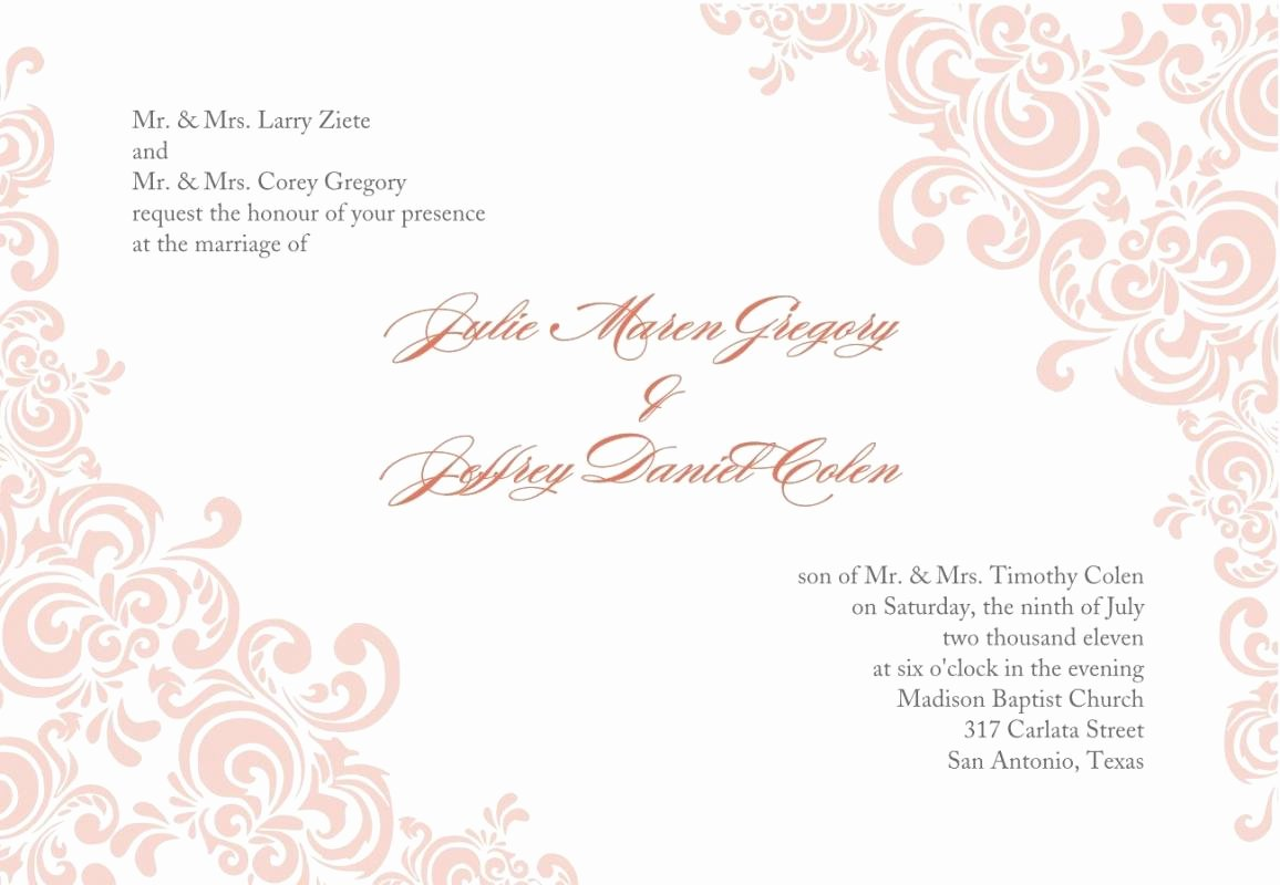 Free formal Invitation Template New formal Invitation Template Download