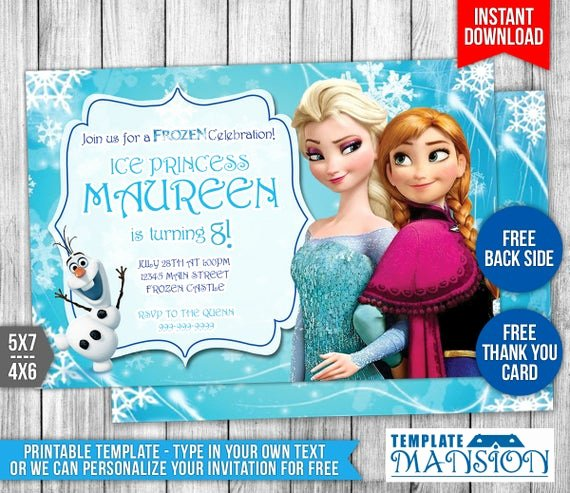 Free Frozen Invitation Templates Awesome Disney Frozen Invitation Disney Frozen Birthday by