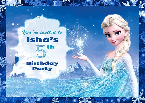 Free Frozen Invitation Templates Elegant 30 Free Invitation Template Download