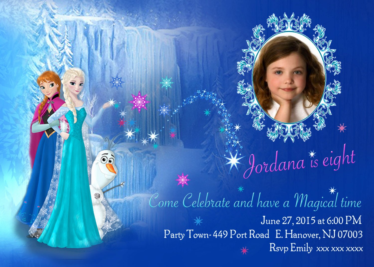 Free Frozen Invitation Templates Elegant Diy Print Frozen Invitations Frozen Birthday Invites Elsa
