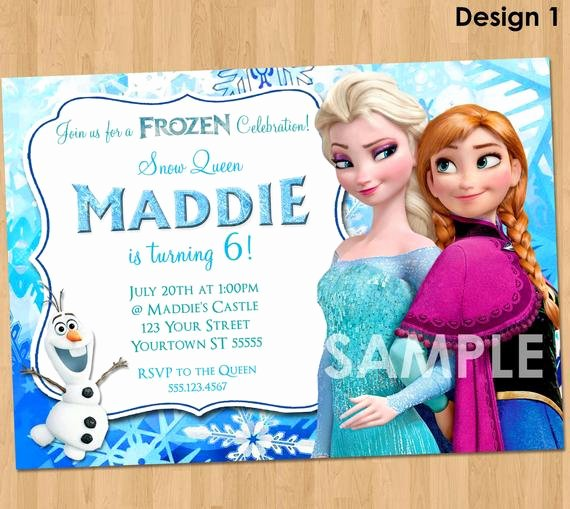 Free Frozen Invitation Templates Lovely Frozen Invitation Frozen Birthday Invitation Disney Frozen