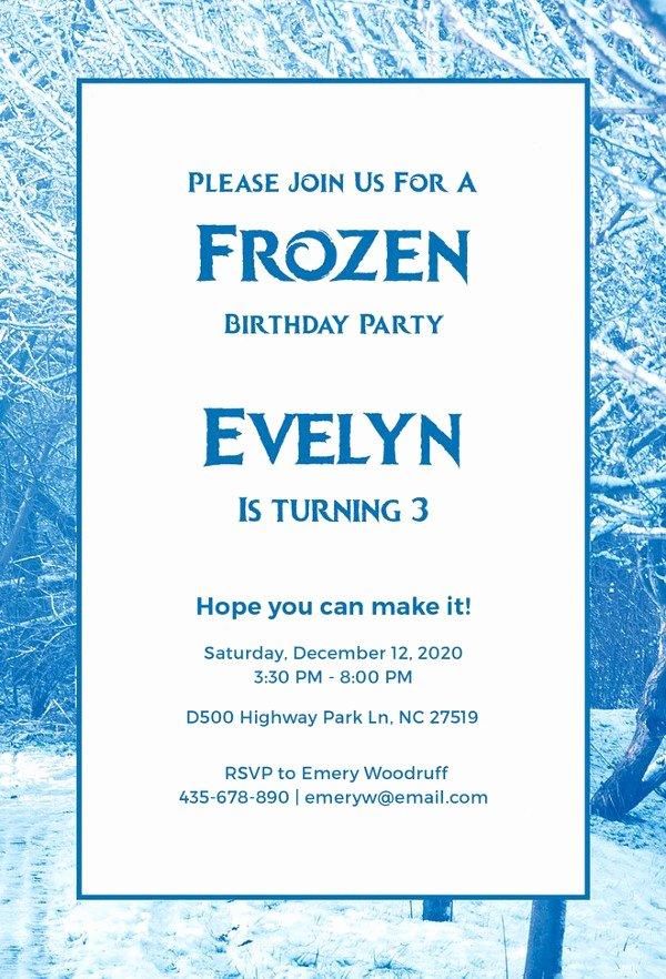 Free Frozen Invitation Templates Luxury 11 Frozen Invitation Template Free Sample Example