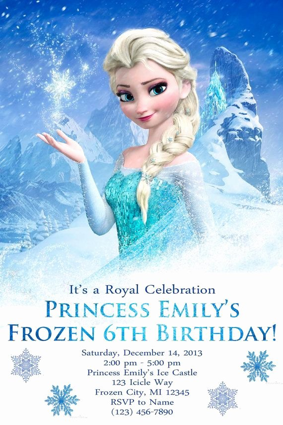 Free Frozen Invitation Templates Luxury Snowflake Birthday Invitations Ideas – Bagvania Free