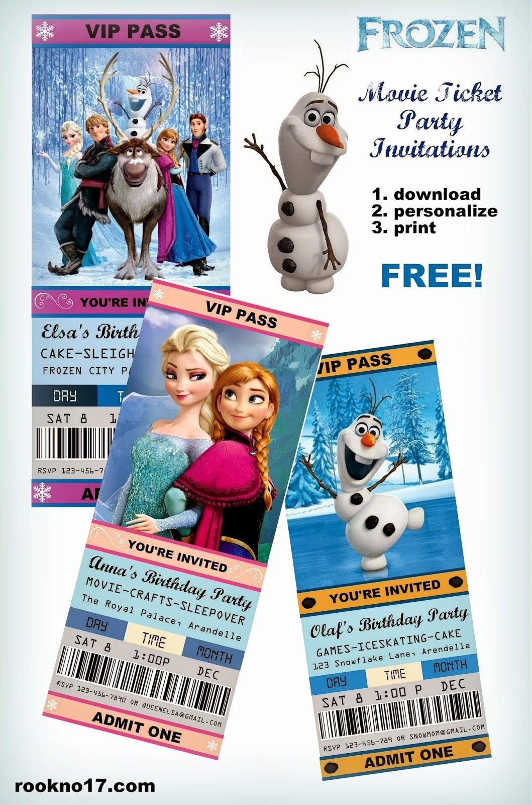 Free Frozen Invitations Template Awesome Free Frozen Invitations On Pinterest