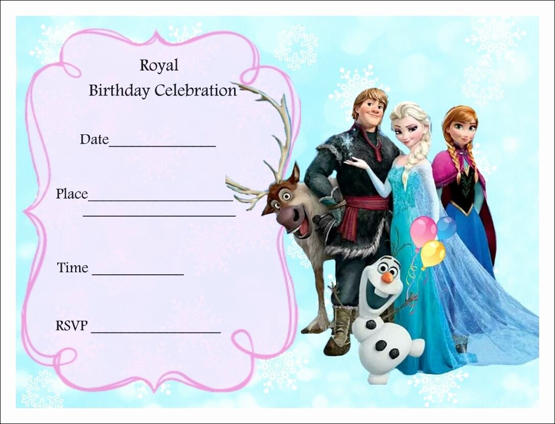 Free Frozen Invitations Template Awesome Free Frozen Party Invitations Frozen Party