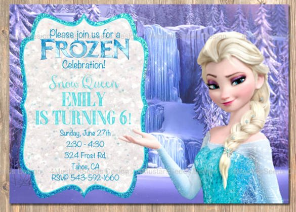 Free Frozen Invitations Template Elegant 12 Frozen Birthday Invitation Psd Ai Vector Eps