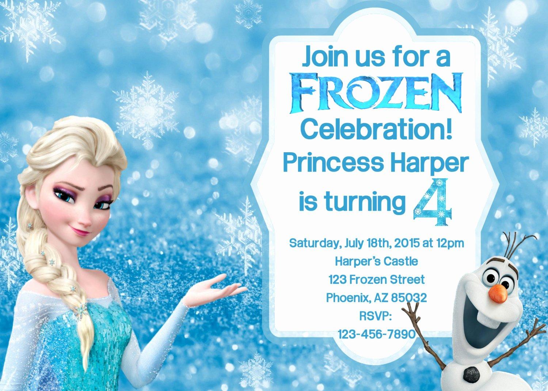 Free Frozen Invitations Template Fresh Frozen Birthday Invitation Frozen Birthday by