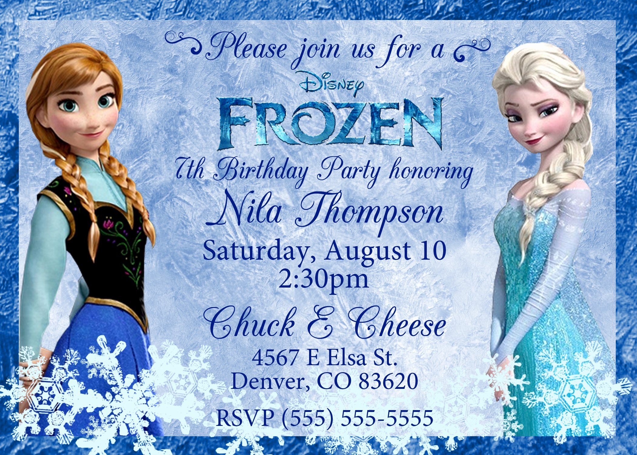 Free Frozen Invitations Template Lovely 40th Birthday Ideas Frozen Birthday Invitation Template Free