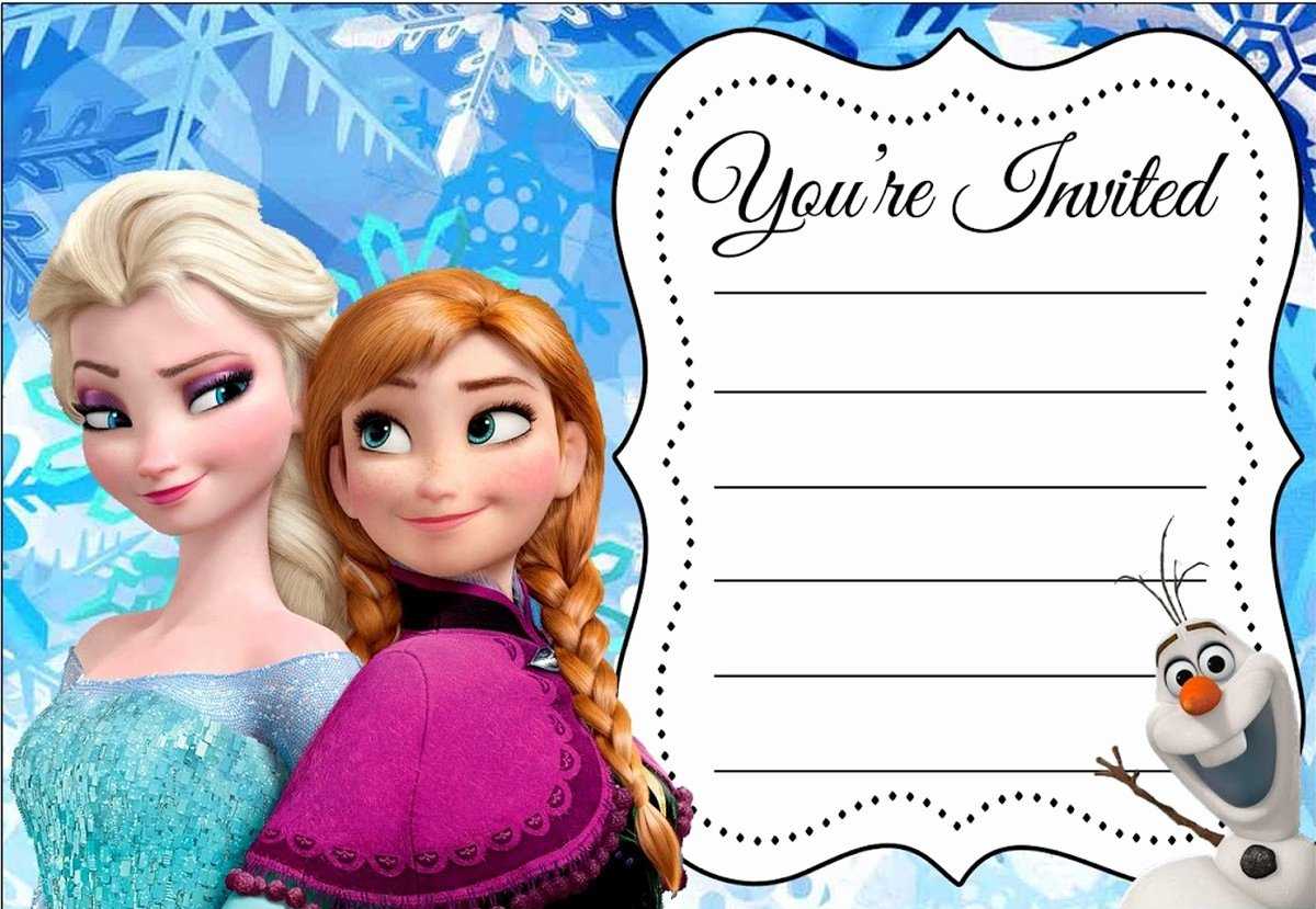 Free Frozen Invitations Template Luxury 24 Heartwarming Frozen Birthday Invitations