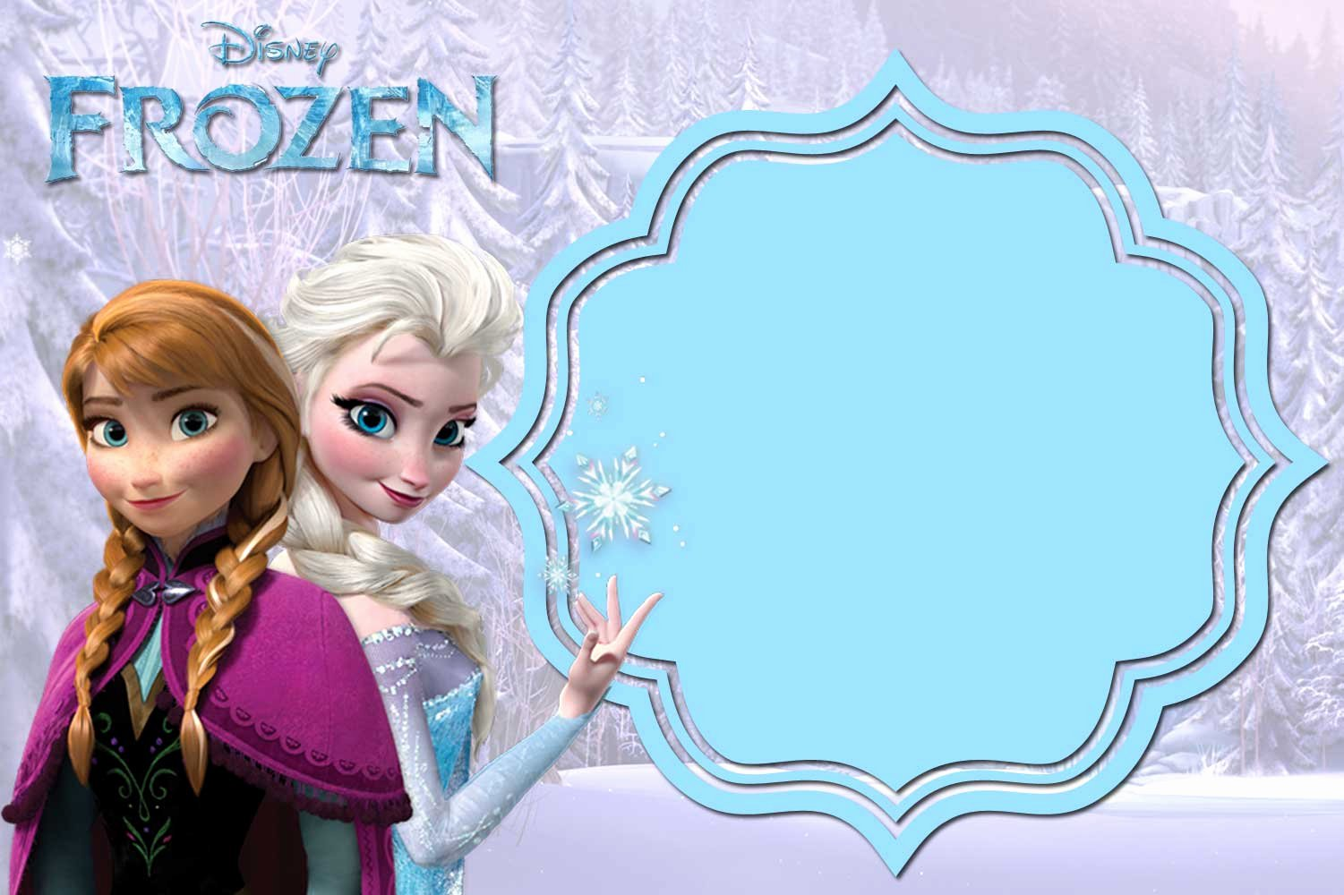 Free Frozen Invitations Template Luxury Free Printable Frozen Anna and Elsa Invitation Templates