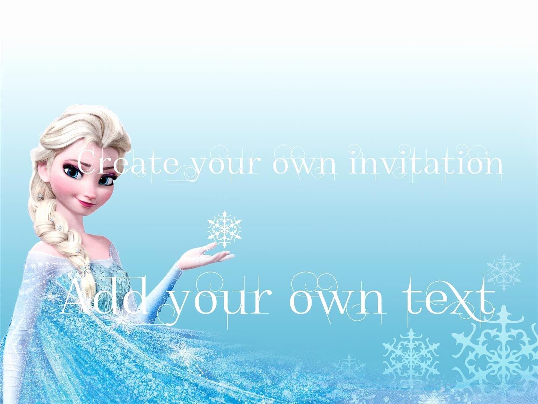 Free Frozen Invitations Template Unique Free Download Frozen Invitations
