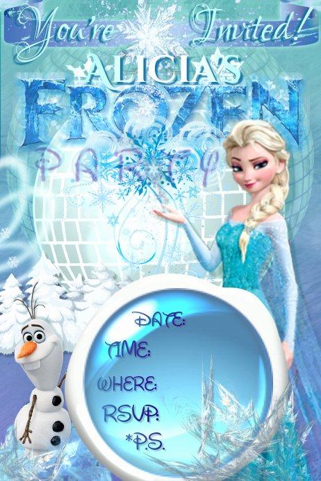 Free Frozen Invitations Template Unique Frozen Invitation Elsa Olaf Disney Girls Winter Ice Party