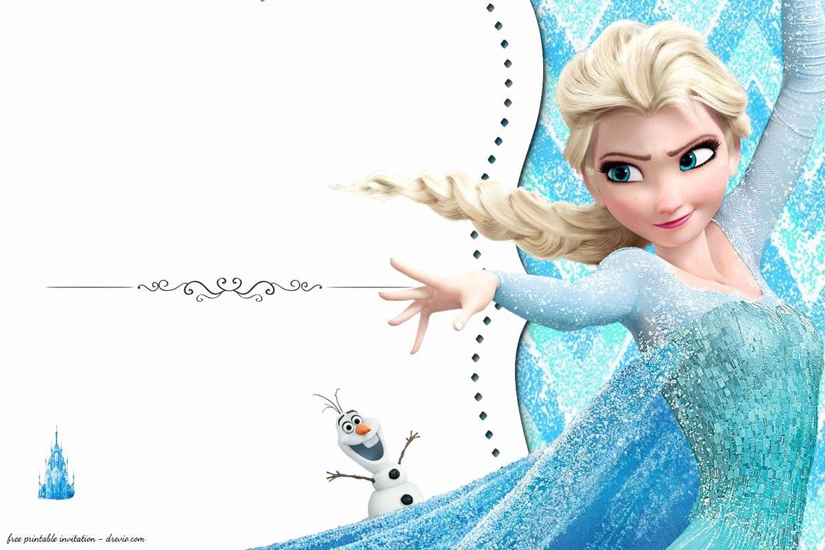 Free Frozen Invitations Templates Beautiful Free Frozen Birthday Invitation Templates