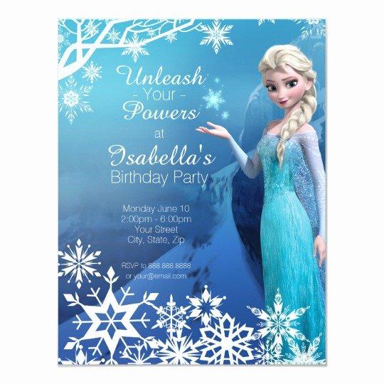 Free Frozen Invitations Templates Best Of Frozen Elsa Birthday Party Invitation