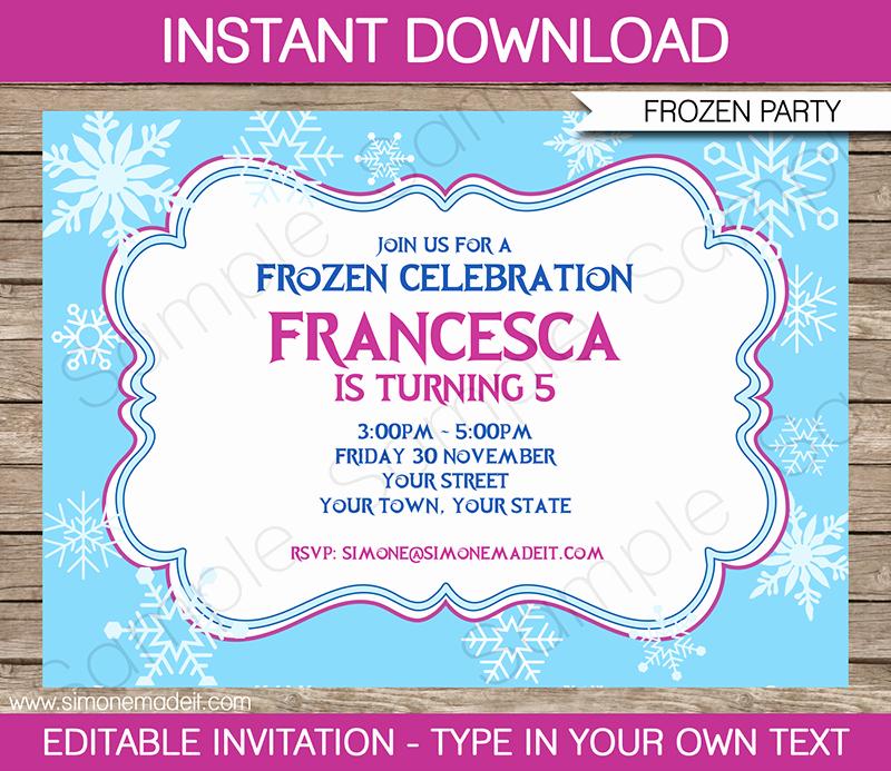 Free Frozen Invitations Templates Elegant Frozen Invitation Template Free Download