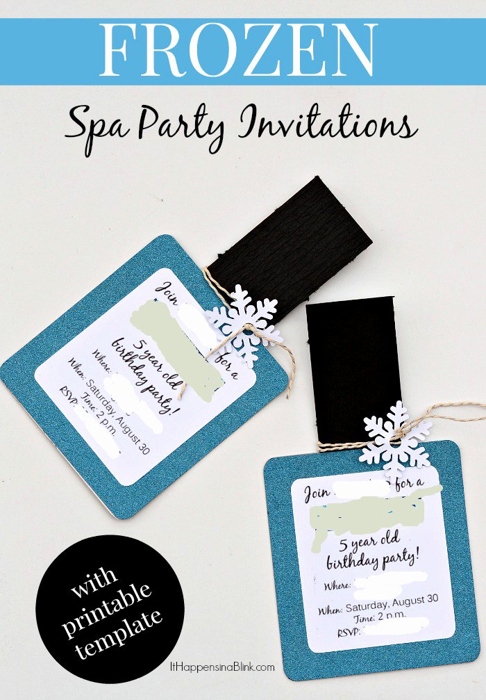 Free Frozen Invitations Templates Inspirational Frozen Spa Party Invitations