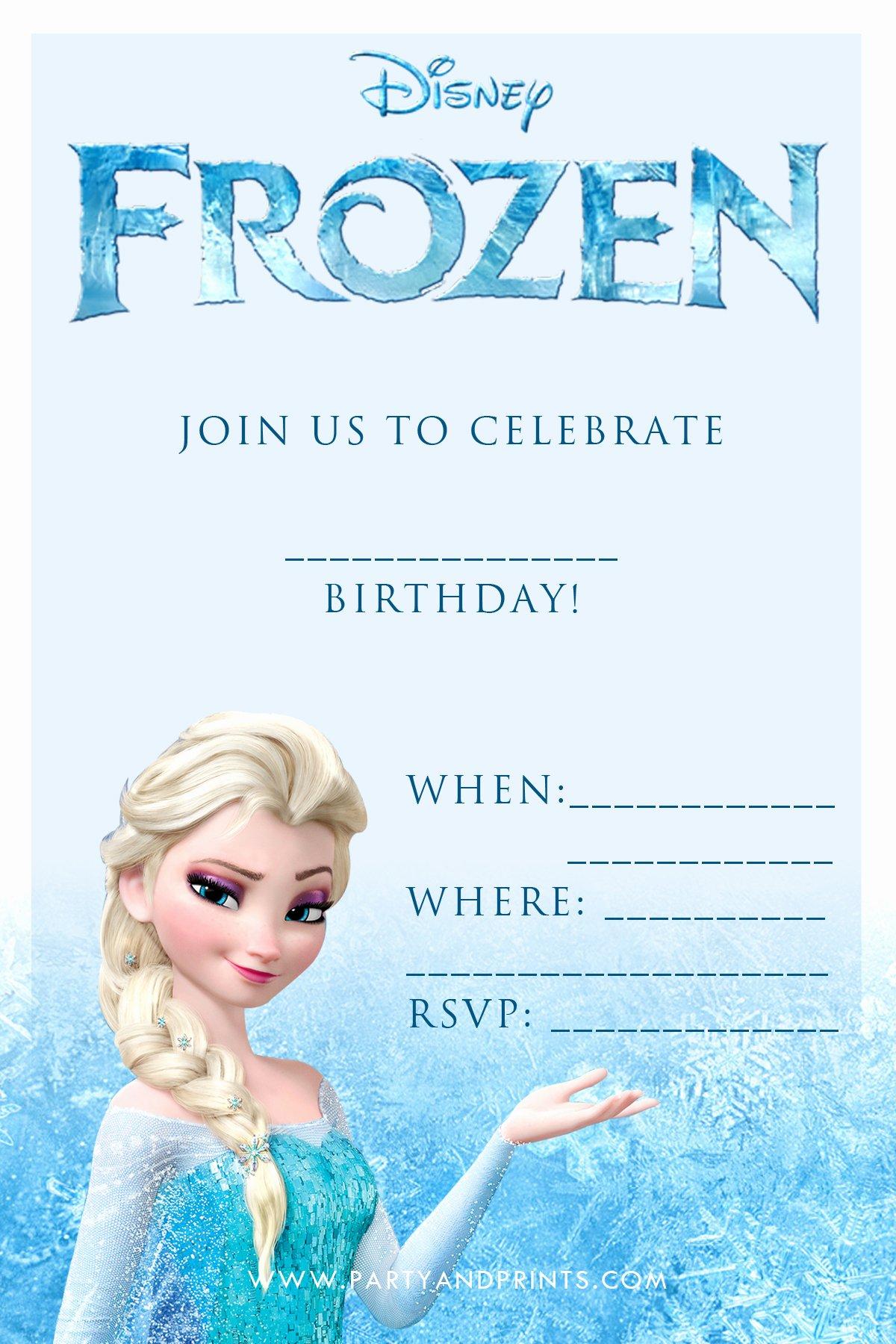 Free Frozen Invitations Templates Lovely 20 Frozen Birthday Party Ideas