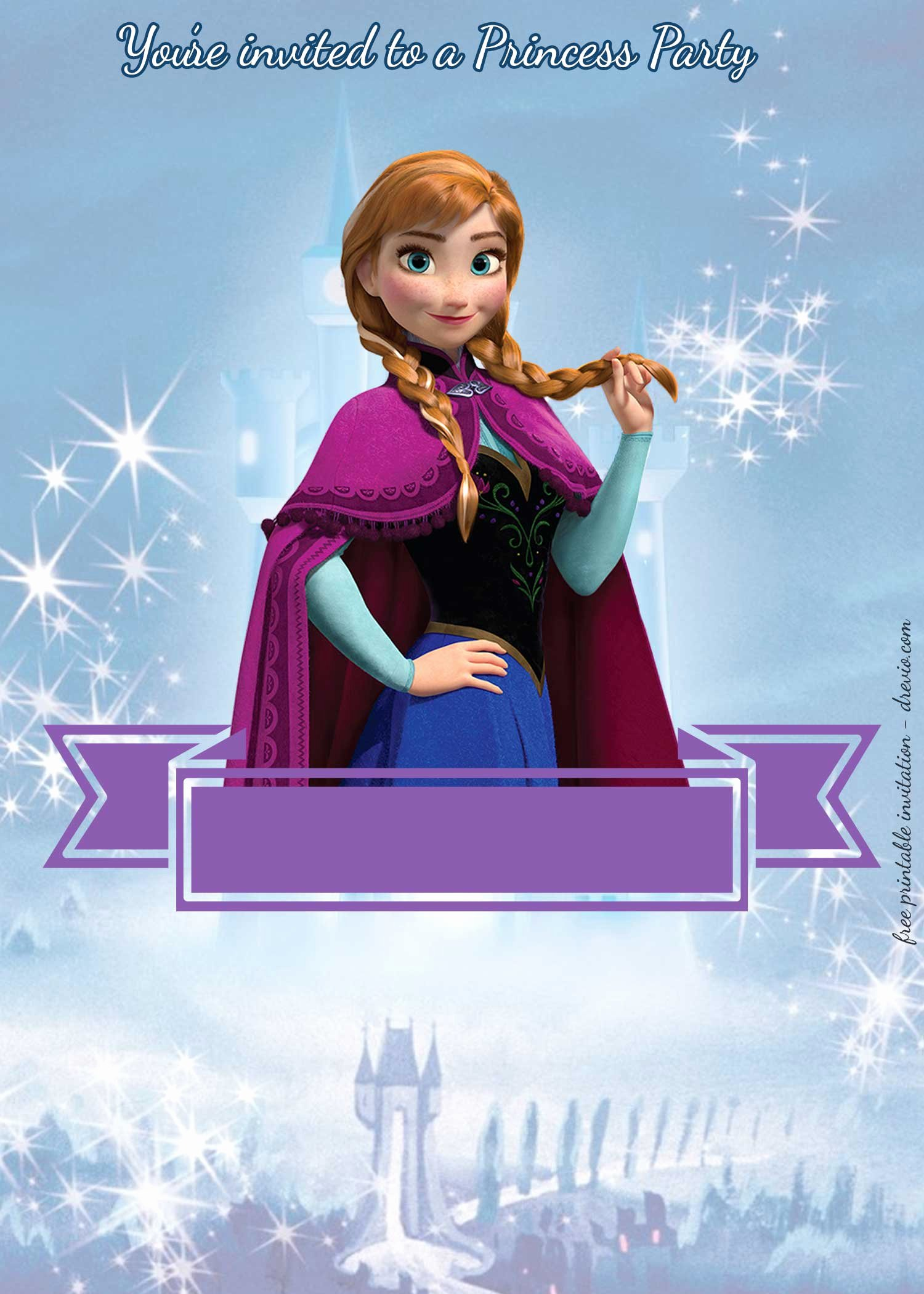 Free Frozen Invitations Templates Lovely Free Princess Party Invitation—princess Anna Frozen