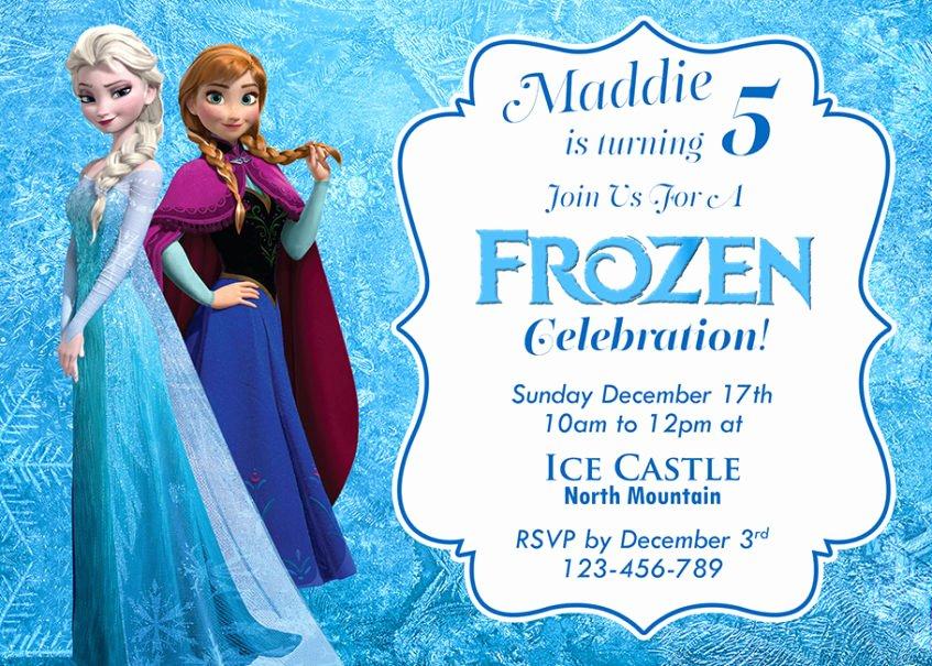 Free Frozen Invitations Templates Luxury Free Frozen Invitation Template
