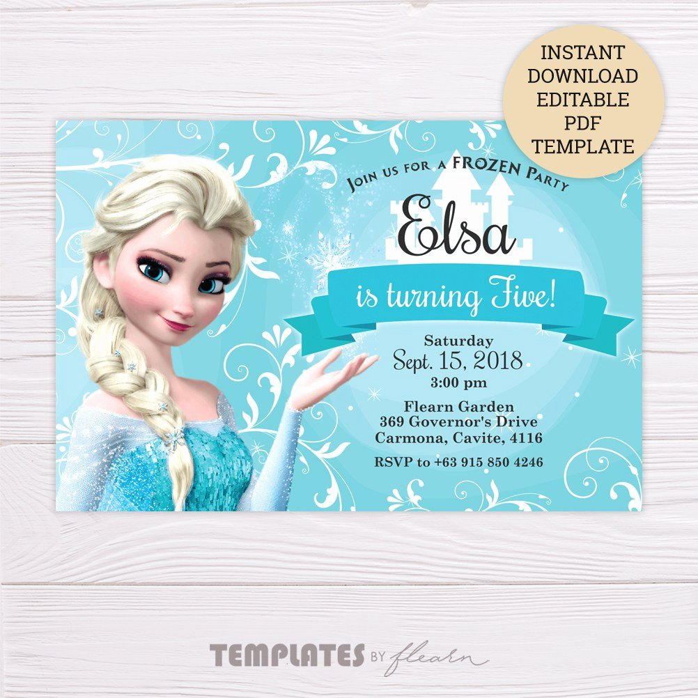 Free Frozen Invitations Templates New Free Frozen Elsa Invitation Template – Flearn Ph