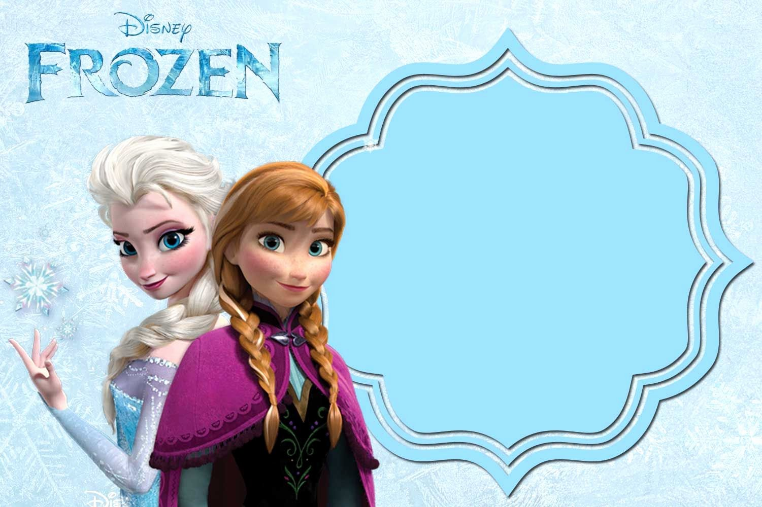 Free Frozen Invite Template Awesome Free Printable Frozen Anna and Elsa Invitation
