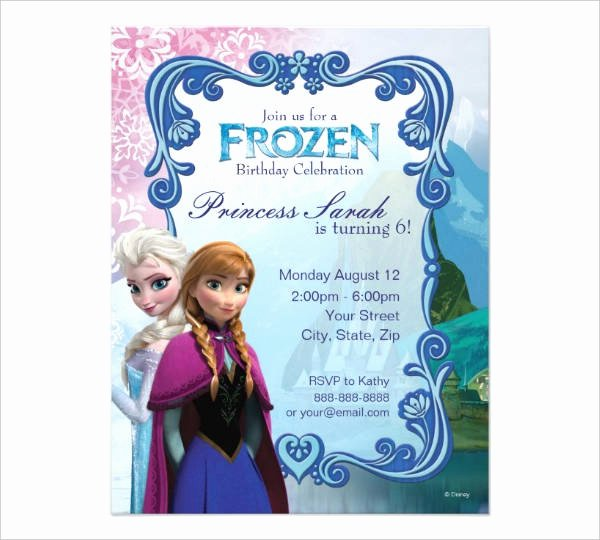 Free Frozen Invite Template Awesome Free Printable Invitations 9 Free Psd Vector Ai Eps