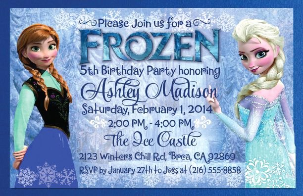 Free Frozen Invite Template Elegant Frozen theme Invitations