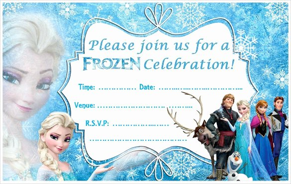 Free Frozen Invite Template Fresh 24 Heartwarming Frozen Birthday Invitations