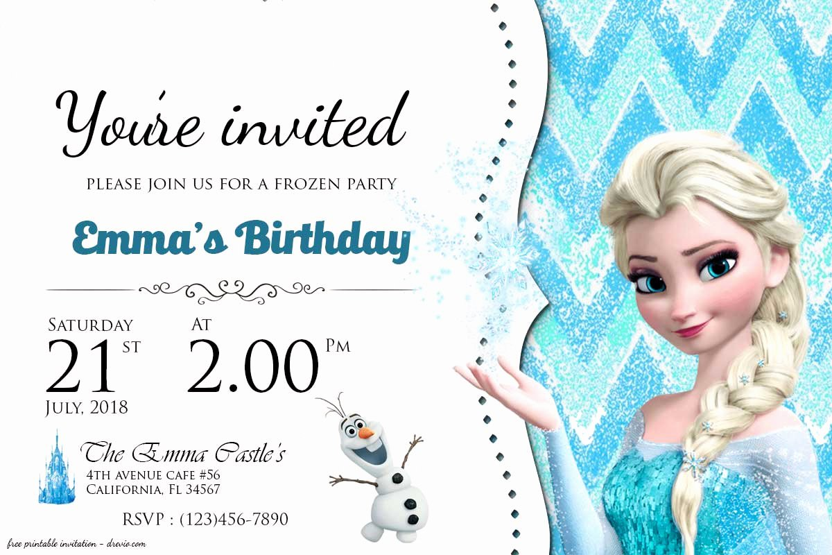 Free Frozen Invite Template Fresh Free Frozen Birthday Invitation Templates