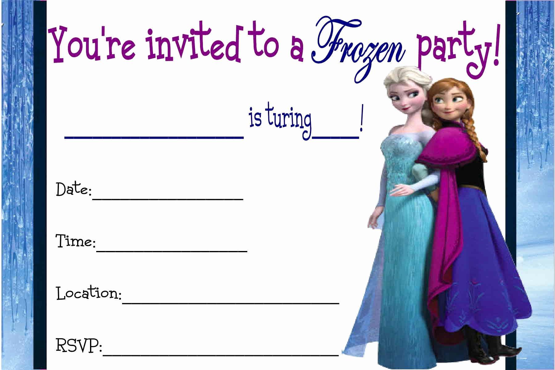 Free Frozen Invite Template Lovely Free Printable Disney Frozen Invitations