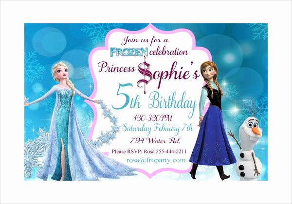 Free Frozen Invite Templates Awesome 13 Frozen Invitation Templates Word Psd Ai