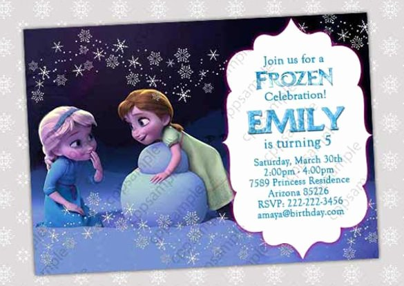 Free Frozen Invite Templates Beautiful 12 Frozen Birthday Invitation Psd Ai Vector Eps