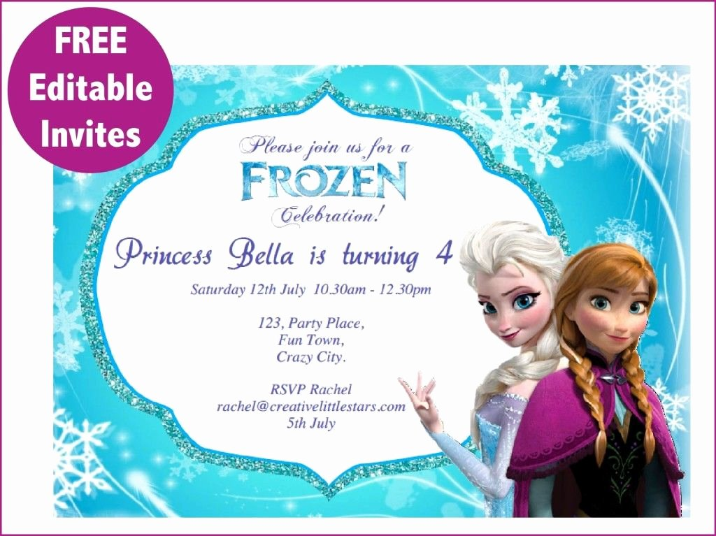 Free Frozen Invite Templates Beautiful Frozen Free Printable Invitations Templates