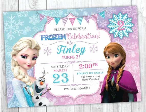 Free Frozen Invite Templates Elegant Frozen Birthday Invitation Printable Frozen Birthday