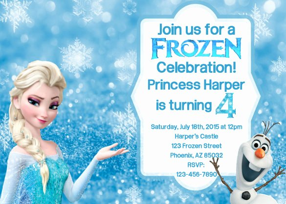 Free Frozen Invite Templates Inspirational 12 Frozen Birthday Invitation Psd Ai Vector Eps