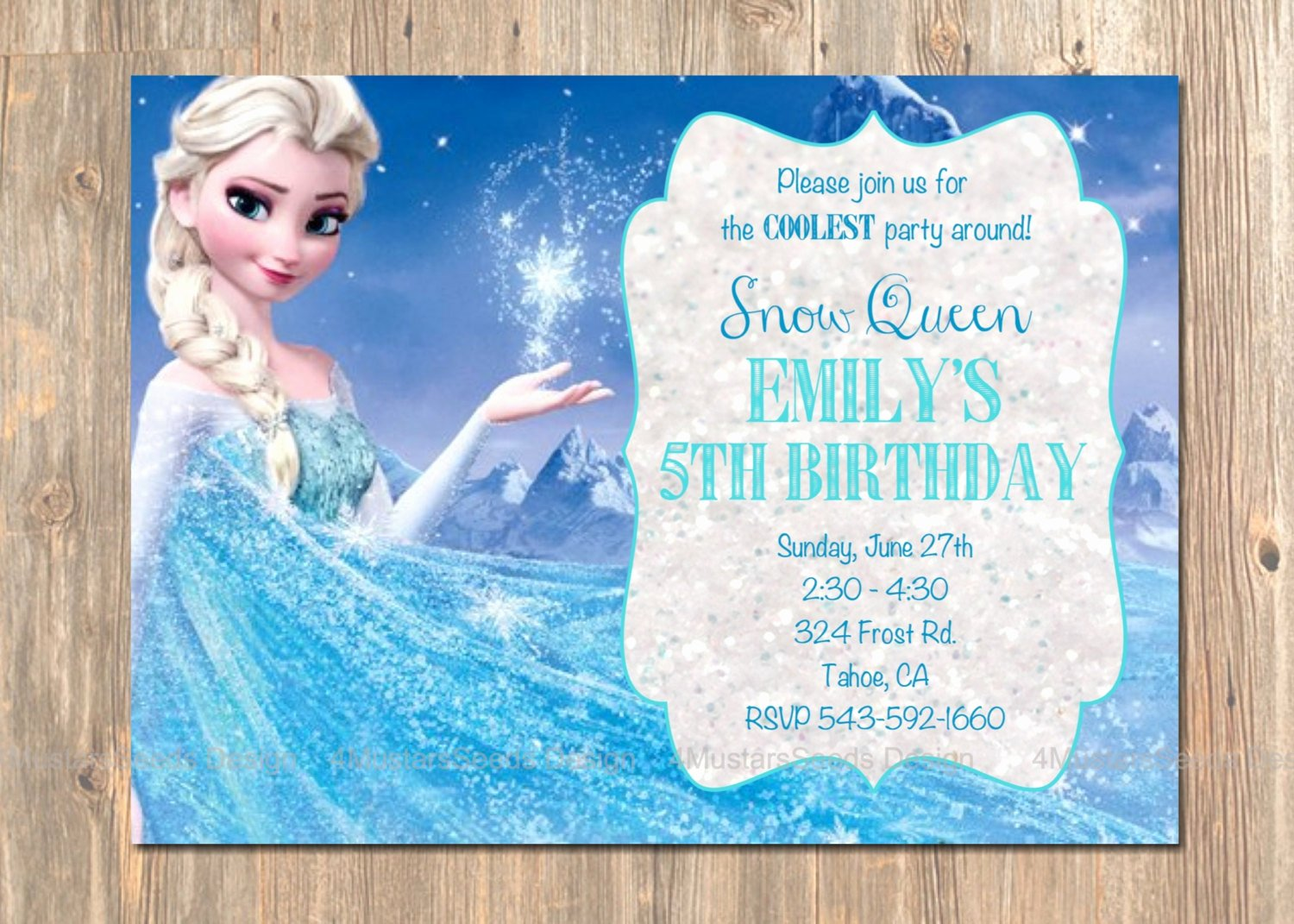 Free Frozen Invite Templates Inspirational Frozen Birthday Invitation Elsa Frozen Invitation Printable