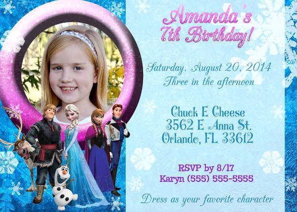 Free Frozen Invite Templates Lovely 13 Frozen Invitation Templates Word Psd Ai
