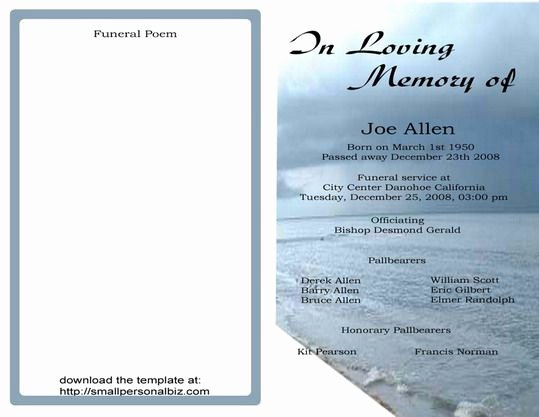 Free Funeral Program Backgrounds Beautiful Free Funeral Program Templates